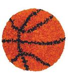RugStudio presents The Rug Market America Kids Shaggy Raggy Basketball 02252 Orange/black Area Rug